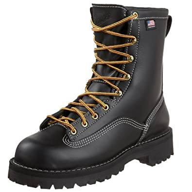 Danner Men's Super Rain Forest Uninsulated Work Boot,Black,8.5 EE US