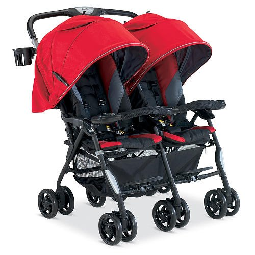 Combi Twin Stroller Red back-373986