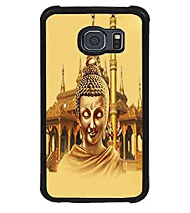 Fuson Premium Lord Buddha Metal Printed with Hard Plastic Back Case Cover for Samsung Galaxy S6