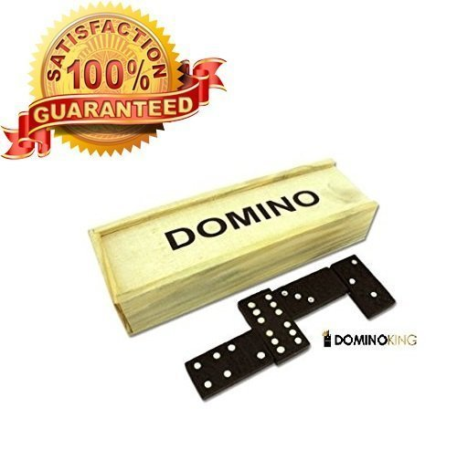 Best Selling Dominos Set Premium 28 Pcs Double Six Dominoes Wood Case Professional Tournament Style