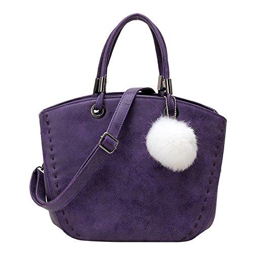 Koson-Man, Borsa tote donna, Purple (viola) - KMUKHB125-03