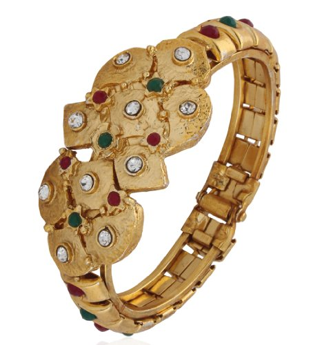 Variation Gold Plated Diamond Bangle For Women - VD13160 (yellow)