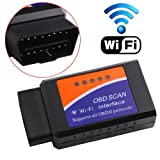 ERUSUN ELM327 WIFI Wireless OBD2 OBDII Car Auto Diagnostic Scanner Adapter Reader for iPhone4S 5 iPad 4 iPad mini iOS PC