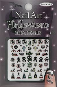 Nail-Art Sticker Halloween Design NSB-02-Multi Black