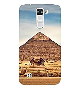 PrintVisa Travel Egypt Pyramids Design 3D Hard Polycarbonate Designer Back Case Cover for LG K7