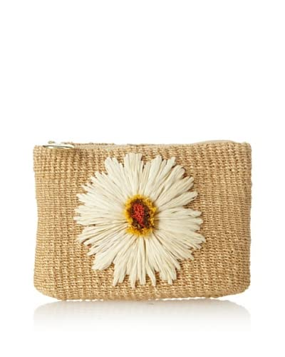 Nada Sawaya Women's Sunflower Small Cosmetic Pouch, White