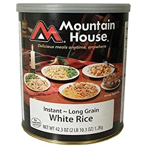 Mountain House Instant White Rice #10 Can Freeze Dried Food - 6 Cans Per Case NEW! by Mountain House