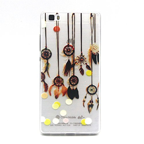 Click to buy HuaWei P8 Lite Case Phonecase Home Ultra Slim Thin Clear Crystal Gel Beautiful Wind Chime Design Protective Bumper Case Soft Flexible TPU Transparent Skin Back Cover for Huawei P8 Lite 5