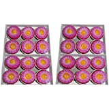 Atorakushon PACK OF 24 POT Decorative Colorfull FLOWER Designer FLOATING CANDLE TEALIGHT CANDLE FOR DIWALI BIRTHDAY...