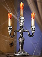 Lighted Skull Candleabra Halloween Party Decoration by Collections Etc