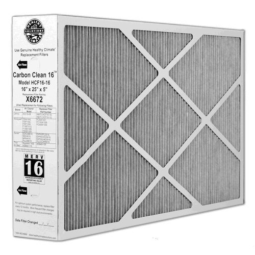 X6672 Lennox Healthy Climate 16x25x5 Merv 16 Filter (Air Filter X6672 compare prices)