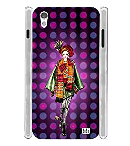 Cute High Fashonable Girl Soft Silicon Rubberized Back Case Cover for InFocus M370