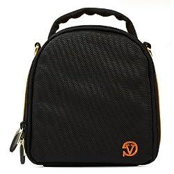 VanGoddy Laurel DSLR Camera Carrying Bag with Removable Shoulder Strap for Panasonic Lumix DMC-FZ200 Digital SLR Camera (Orange)
