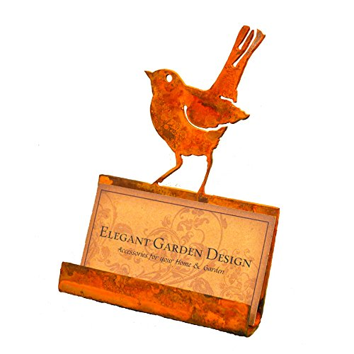 Elegant Garden Design Baby Robin Business Card Holder