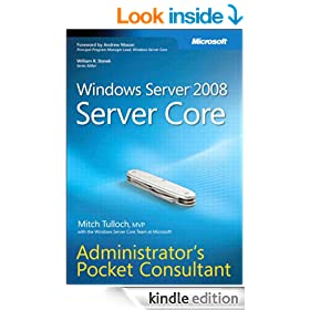 Windows Server 2008 Server Core Administrator's Pocket Consultant