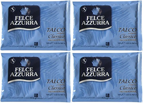 "Paglieri: ""Felce Azzurra"" Refill Envelope, Classic Scent * 3.53 Ounce (100gr) Packages (Pack of 4) * [ Italian Import ]"