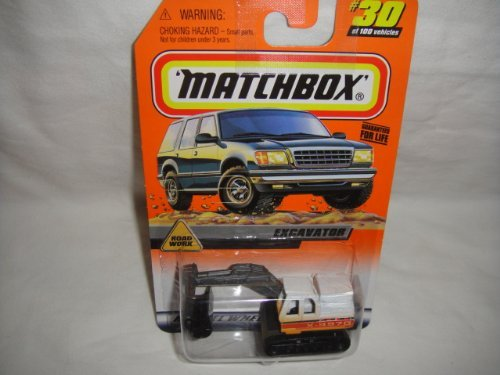 MATCHBOX #30 OF 100 ROAD WORK SERIES EXCAVATOR DIE-CAST COLLECTIBLE
