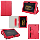 ProCase old generation Kindle Fire HD 7 Case - Bi-Fold Stand Folio Cover for Amazon Kindle Fire HD 7 Inch Tablet (2012 version) auto sleep /wake feature (Red) ~ ProCase