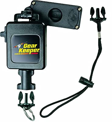 "Gear Keeper RT3-7626 Retractable Instrument Tether with Clamp On Multi-Mount Belt Clip, 80 lbs Breaking Strength, 26 oz Force, 28"" Extension"