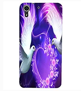 ColourCraft Lovely Pigeons Design Back Case Cover for HTC DESIRE 626