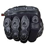 MAX SKIN MOTORCYCLE BIKE LEATHER GLOVES BLACK SIZE L