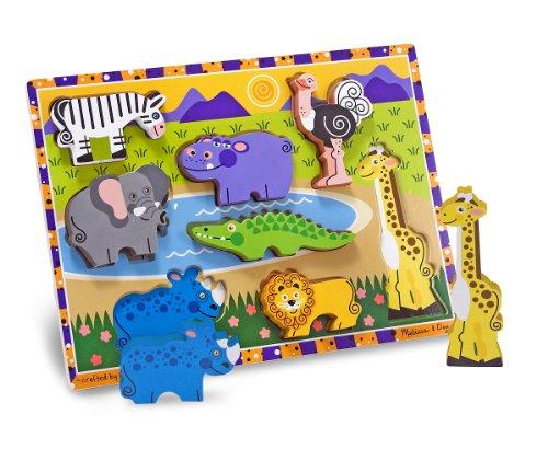 Melissa & Doug Deluxe Wooden Safari Chunky Puzzle