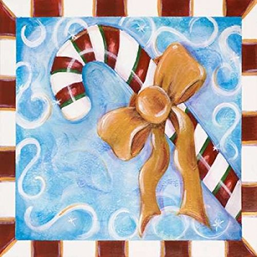 Candy Cane Poster Print by Karen Lucchese (24 x 24)