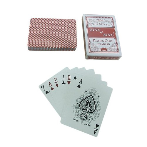 Trademark Poker 1 Deck-Club Special King Of Playing Cards (Red)