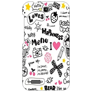 Printland Menu Of Happiness Phone Cover For Honor Holly Hol-U19