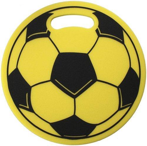 Schaumstoff-Sitzkissen Stadionkissen - Fussball - (09970 gelb)