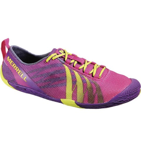 Merrell Women's Barefoot Vapor Glove Running Shoe,Mulberry,9 M US