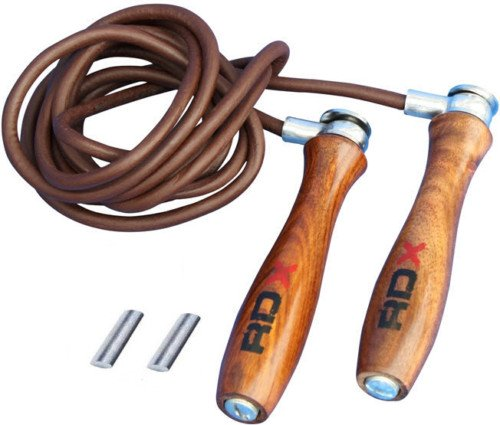 RDX Pro Leather Skipping Speed Rope Adjustable Weighted