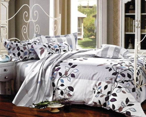 Navy And Grey Bedding 6913 front