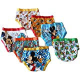 Disney Little Boys' Seven Pack Mickey Mouse Briefs