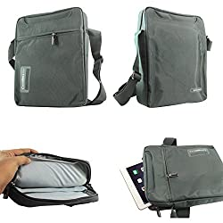 DMG CoolBell Sling Bag CrossBody Shoulder Bag Carrying Case with Accessory Pockets for for 10in Tablets Notebooks and Laptops (Grey)