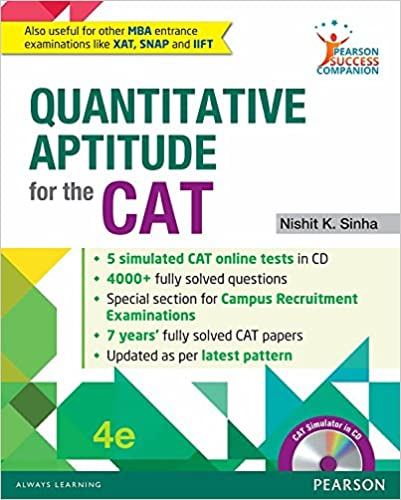 Quantitative Aptitude for the CAT by Nishit K Sinha
