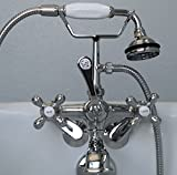 Clawfoot-Tub-Faucet-with-Elephant-Spout-and-Hand-held-Shower-Head