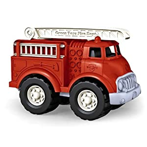 Green toys: plastic truck made from recycled milk bottles