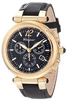 Salvatore Ferragamo Women's F77LCQ5009 SB09 Idillio Gold Ion-Plated Black Dial Leather Chronograph Watch by Salvatore Ferragamo