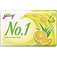 Godrej No.1 Lime And Aloe Vera Soap, 125g (Buy 4 Get 1 Free)