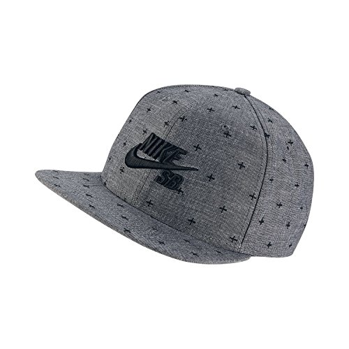 Nike Mens SB Pro Chambray Phillips Snapback Hat Charcoal Black 41926e70dd5