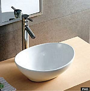 Small Counter Top Basins : Modern Small Mini Oval Counter Top Vanity Ceramic Bowl Basin Sink ...