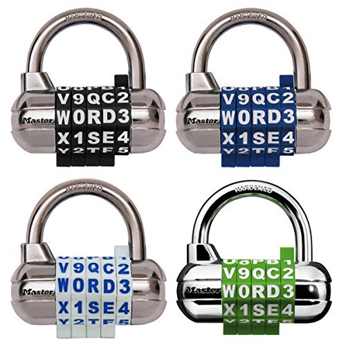 Master Lock Word Combination Blue Padlock School Employee Athletic Lockers