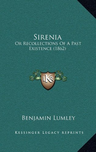 Sirenia: Or Recollections of a Past Existence (1862)