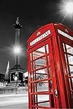 1art1 49214 Poster 91 x 61 cm London Telephone Box Trafalger Square Red