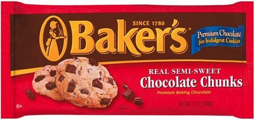 Buy Baker's Semi-Sweet Chocolate Chunks, 12-Ounce Bags (Pack of 12) (Baker's, Health & Personal Care, Products, Food & Snacks, Baking Supplies, Baking Chocolate)