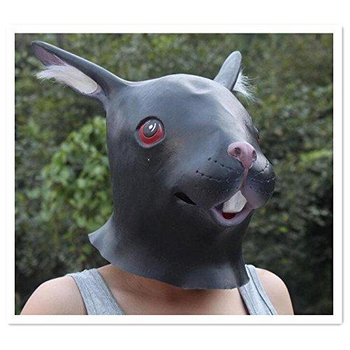 Skue Rabbit Head Latex Mask Novelty Cute Vivid ZOO Costume Halloween Party (Giraffe Deluxe Latex Mask)