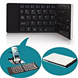 Portable Wireless Foldable Bluetooth 3.0 Keyboard w/ Phone Tablet Holder for IOS Android Samsung Galaxy S4 S5 Note 3 4 Tab 10.1 iPad 2 3 Mini 1 2 3 iPhone 4 4S 5 5S 6 6 Plus Black