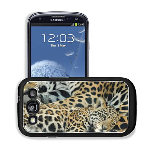 Animal Jaguar Baby Pattern Wildlife Sleeping Mother Spots Samsung I9300 Galaxy S3 Snap Cover Premium Aluminium Design Back Plate Case Customized Made To Order Support Ready 5 3/8 Inch (136Mm) X 2 7/8 Inch (73Mm) X 7/16 Inch (11Mm) Luxlady Galaxy_S3 Profes front-1052207