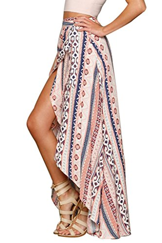 HOTAPEI Womens Summer Swimsuit Maxi Skirt Wrapped Beach Cover up Dress